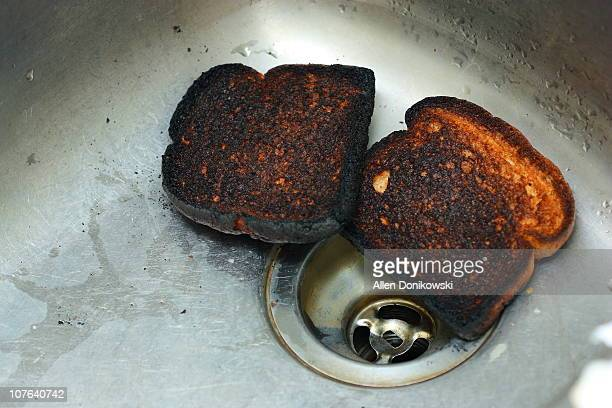 failed breakfast - burnt stock pictures, royalty-free photos & images
