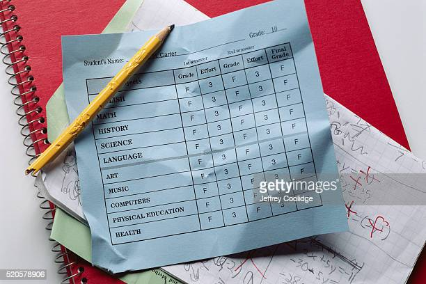 failing report card - report card stock photos and pictures