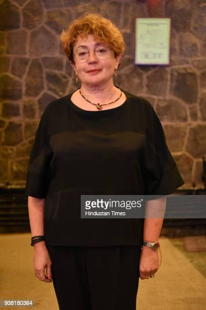 Faina Kukliansky Chair of the Lithuanian Jewish Community during the Launch Of Book 'From Lithuania To Santiniketan Schlomith Flaum And Rabindranath...