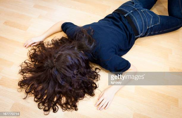Fainted woman