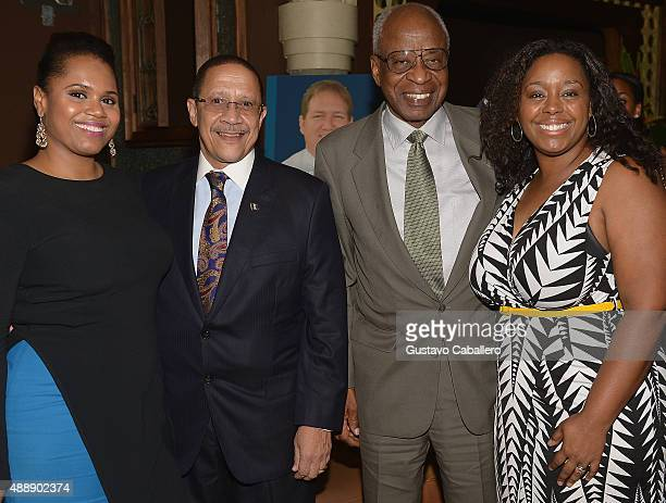 Faiola RomanWilliam GriffithKHL Tony Marshall and Alisa Gumbs attends the Barbados Food Wine And Rum Festival Launch Party on September 17 2015 in...