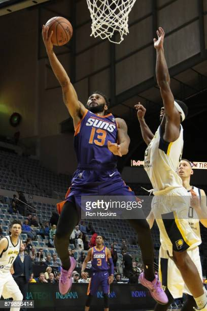 Fair ##9 of the Fort Wayne Mad Ants battles Xavier Silas of the Northern Arizona Sunns during their NBDL game at Memorial Coliseum on November 26...
