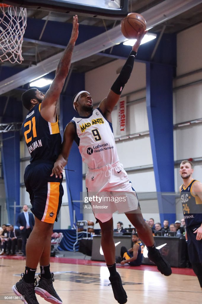 CJ Fair #9 of the Fort Wayne Mad Ants handles the ball during the NBA G-League Showcase Game 23 between the Salt Lake City Stars and the Fort Wayne Mad Ants on January 13, 2018 at the Mississauga SportZone in Mississauga, Ontario Canada.