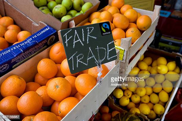Fair Trade Oranges in Store