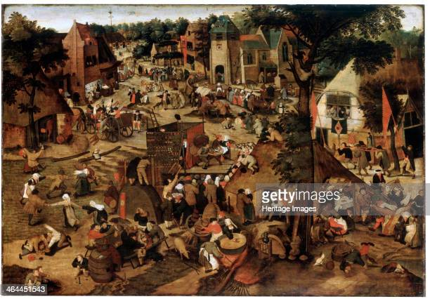 'Fair with a Theatrical Performance', c1580-1630. Brueghel, Pieter, the Younger . Found in the collection of the State Hermitage, St. Petersburg.