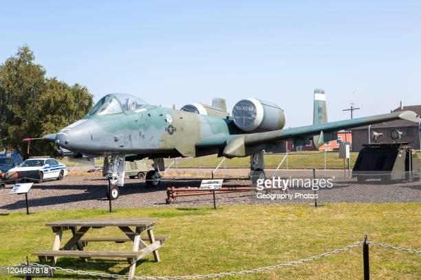 Fairchild Republic A10A Thunderbolt 11 fighter plane Bentwaters Cold War museum Suffolk England UK