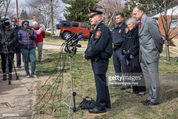 Fairfax County Police Chief Edwin Roessler holds a news conference about the discovery of two sets of human remains which were found in Lincolnia's...