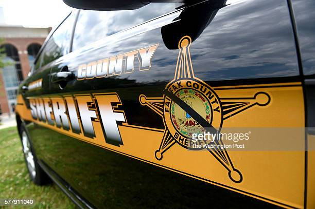 Fairfax County Police Officer's car is seen outside of the county courthouse Friday July 8 2016 in Fairfax Virginia The demonstration was held to...