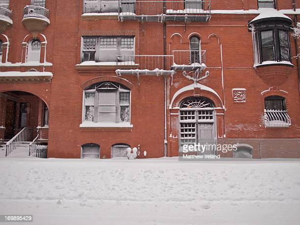 CONTENT] Fairfield Street in Boston's Back Bay neighborhood during a massive early February snowstorm The blizzard named Nemo by a weather service...