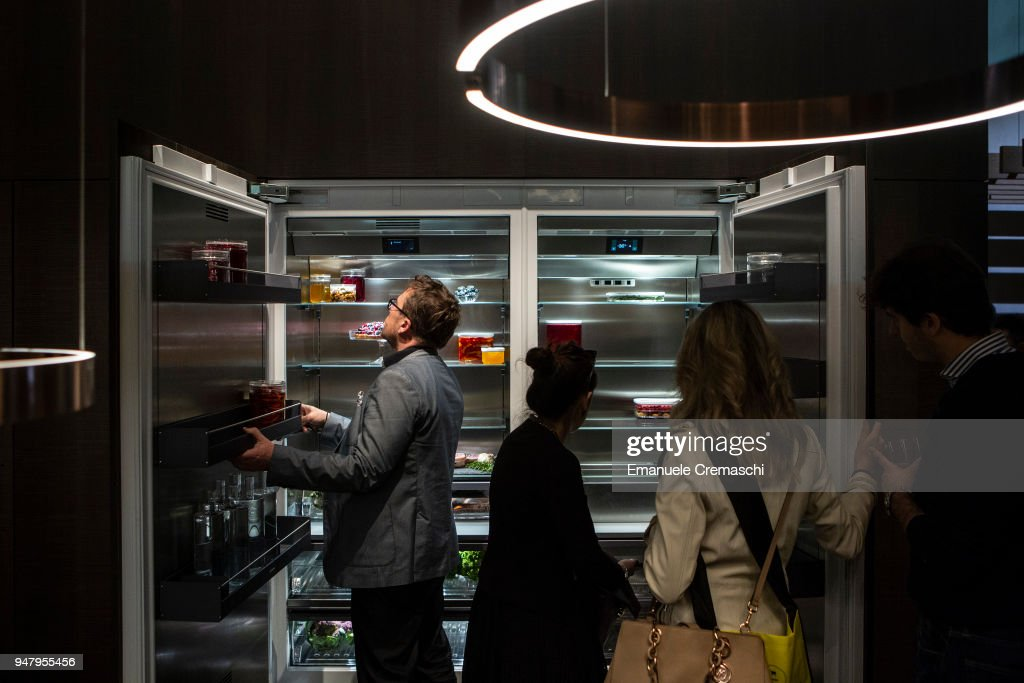 Fairgoers visit the Gaggenau display stand during the Salone Internazionale del Mobile at Fiera di Rho on April 17, 2018 in Milan, Italy. Every year, Salone and Fuorisalone define the Milan Design Week, the most important event in the world for design. With over 2.000 exhibitors, the Salone Internazionale del Mobile (Milan Furniture Fair) is the largest furniture fair in the world. Beside that, the Fuorisalone includes a set of 1.200 events distributed all over Milan.