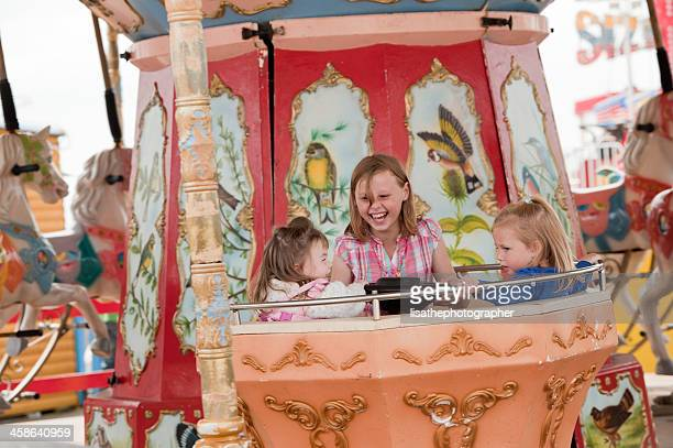 fairground ride fun - blackpool stock photos and pictures