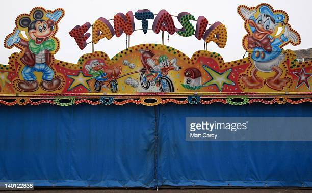 A fairground ride is closed for winter close to the main shopping streets in Weymouth town centre on February 28 2012 in Weymouth England Weymouth...