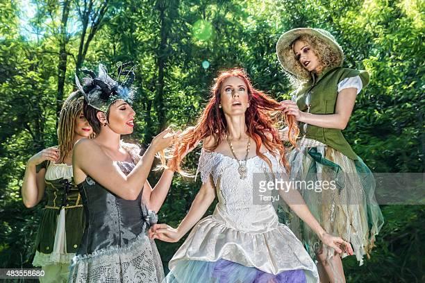 Fairies Prepare Their Queen for an Event