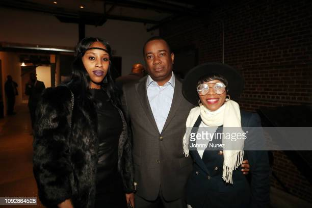 Fairley McCaskill Orlando McGhee and Tenisha Purcell attend the Super Bowl LIII Power Of Influence Awards at Coco Studios on February 1 2019 in...