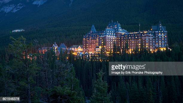 fairmont banff springs hotel - banff stock photos and pictures