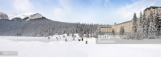 fairmont chateau lake louise - chateau lake louise - fotografias e filmes do acervo