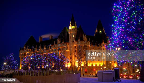 Fairmont Chateau Laurier during Christmas time.