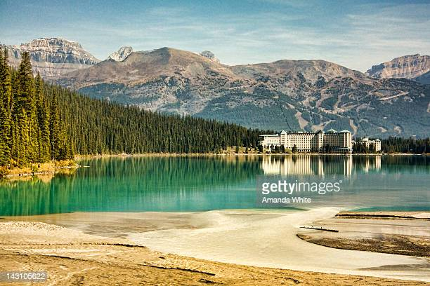 fairmont chateau - lake louise stock photos and pictures