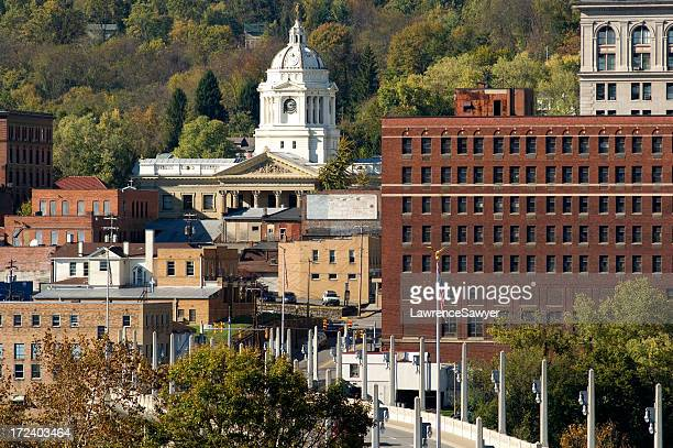 fairmont, west virginia, downtown - protohistory_of_west_virginia stock pictures, royalty-free photos & images