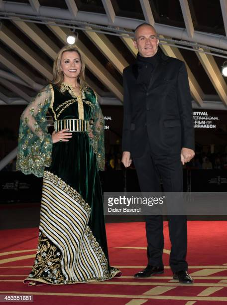 Fairouz and Laurent Weil attend the 'Sara' premiere at the 13th Marrakech International Film Festival on December 3 2013 in Marrakech Morocco