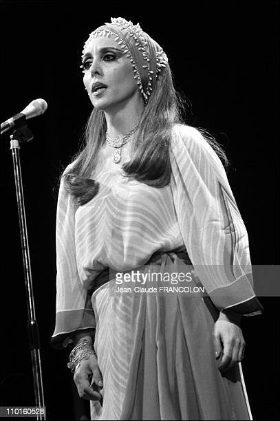 Fairouz at The Olympia in Paris France in May 1979