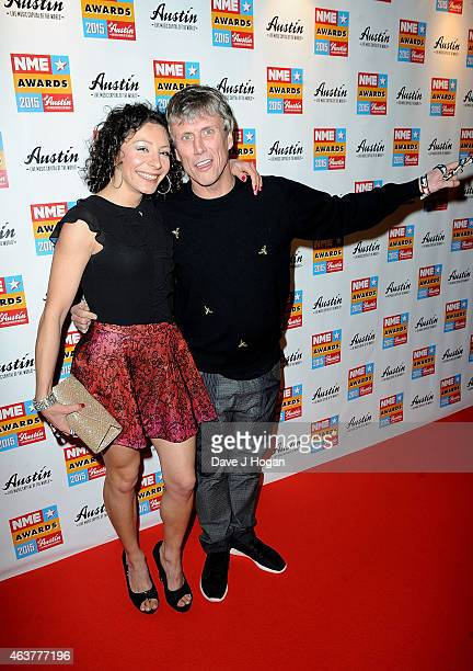 Fairuza Balk and Bez attend the NME Awards at Brixton Academy on February 18 2015 in London England