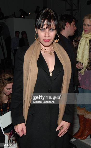 Fairuza Balk during Olympus Fashion Week Fall 2006 Abaete by Laura Poretzky Front Row and Backstage at Bryant Park in New York City New York United...
