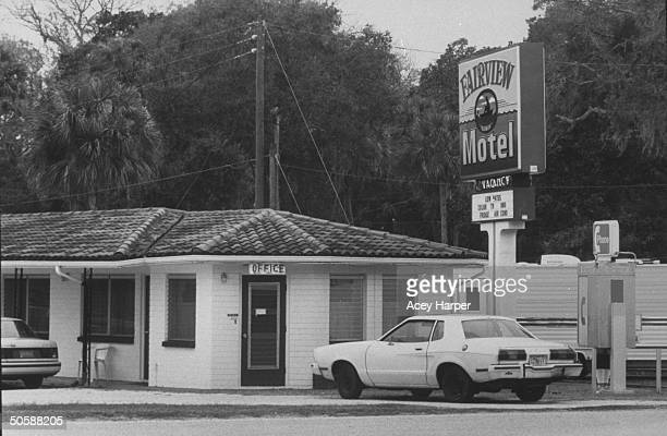 Fairview motel where lesbian killer Aileen Wuormos her lover Tyria Moore stayed