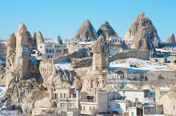 Fairy chimneys among the houses of Goreme.