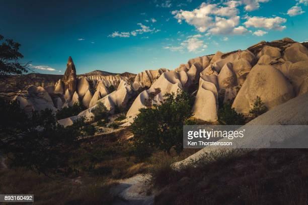fairy chimneys in cappadocia - アナトリア ストックフォトと画像