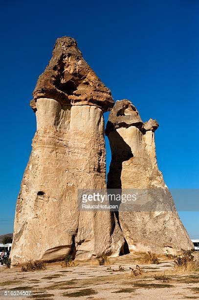 Fairy chimneys of Pasabag in Cappadocia