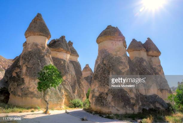 fairy chimneys - cappadocia stock pictures, royalty-free photos & images