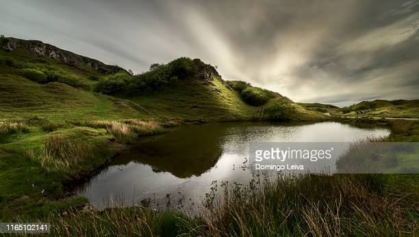 fairy glen, island of skye, scotland - lake stock pictures, royalty-free photos & images