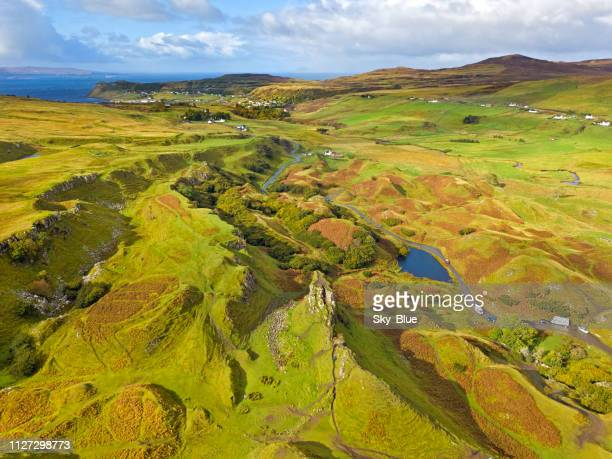fairy glen, scottish highlands - valley stock pictures, royalty-free photos & images