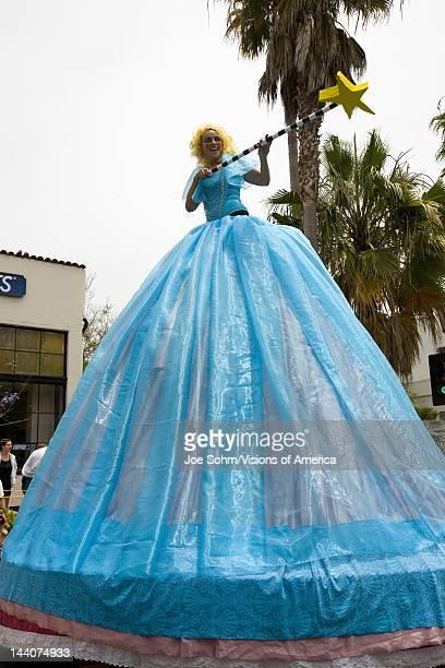 Fairy Godmother at annual Summer Solstice Celebration and Parade June 2007, since 1974, Santa Barbara, California