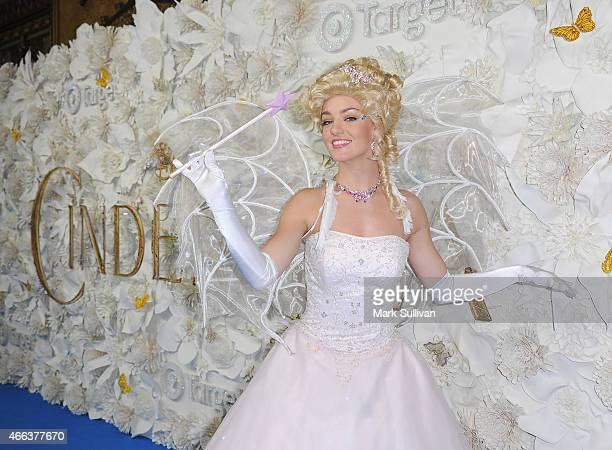 Fairy Godmother charactor poses on the carpet at the Australian premiere of Disney's Cinderella at State Theatre on March 15 2015 in Sydney Australia