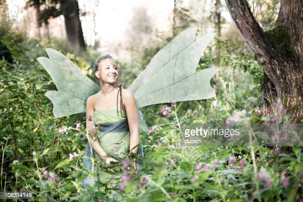 fairy in the woods - fairy stock photos and pictures