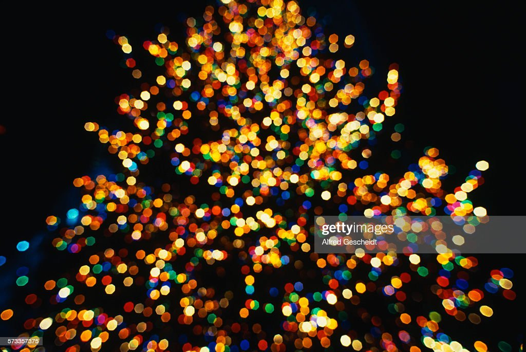Fairy Lights On The Christmas Tree At The Rockefeller Center