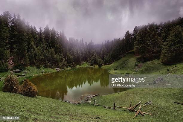 fairy meadows lake, gilgit baltistan, pakistan - gilgit baltistan stock photos and pictures