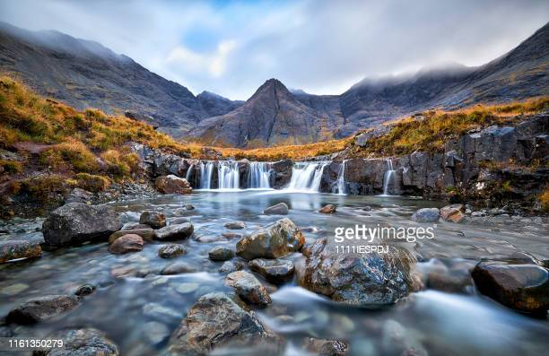fairy pools, glen brittle, isle of skye, scotland, uk - waterfall stock pictures, royalty-free photos & images