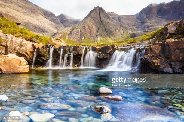 fairy pools in isle of skye - lagarde stock pictures, royalty-free photos & images