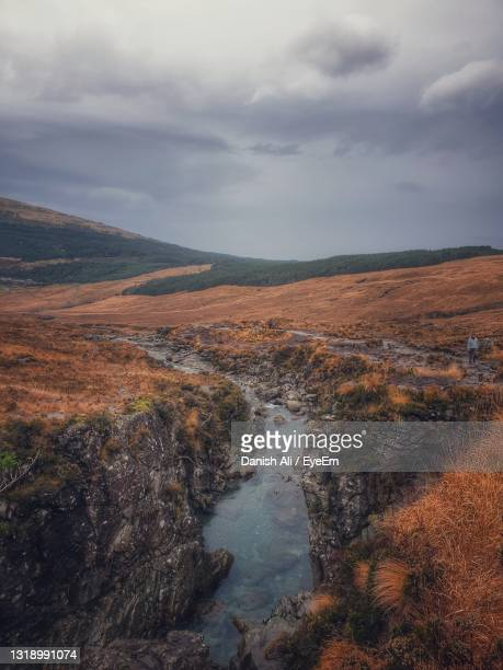 fairy pools scotland - dramatic sky stock pictures, royalty-free photos & images