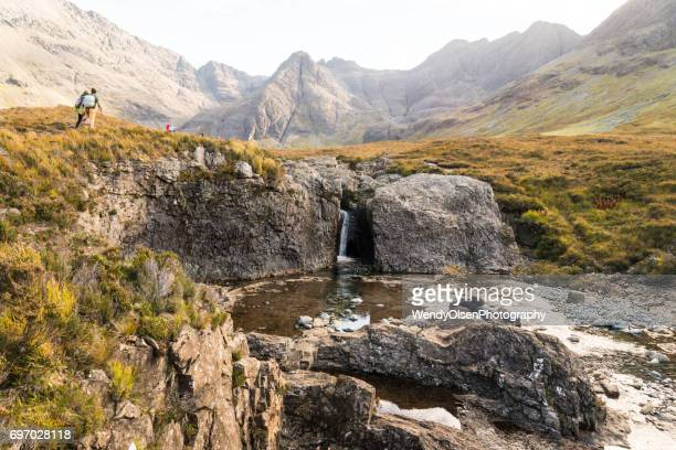 Fairy Pools with the Black Cuillin Mountains