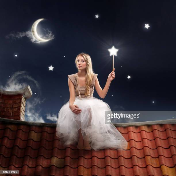 fairy stars - fairy stock photos and pictures