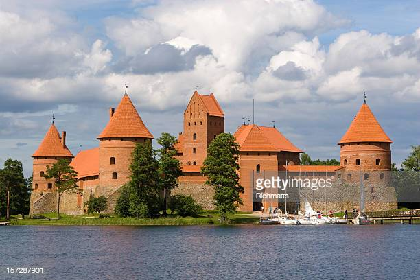 fairy tale castle in lithuania - lithuania stock pictures, royalty-free photos & images