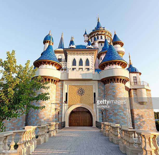 fairy tale castle - castle stock photos and pictures