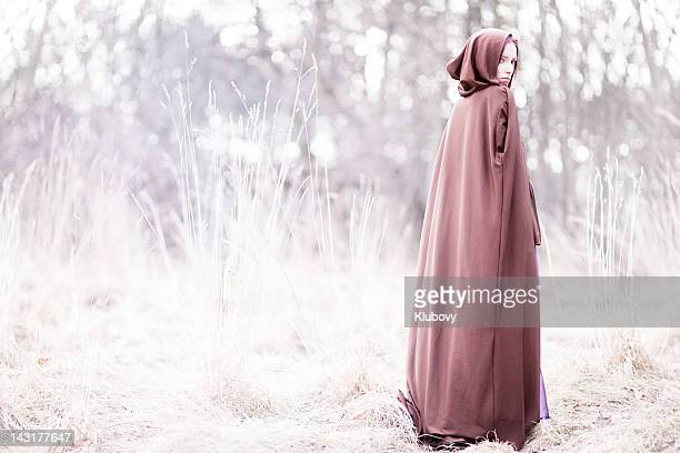 fairy tale lady - cape garment stock photos and pictures