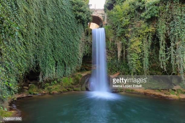 fairy tale waterfall in tobera, spain. - ブルゴス ストックフォトと画像