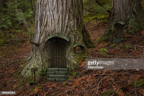 fairy tree house - fairy stock photos and pictures