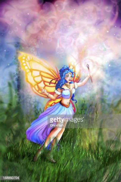 Fairy with her magic wand - Illustration